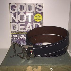Tommy Hilfiger Black/ Brown leather men's belt